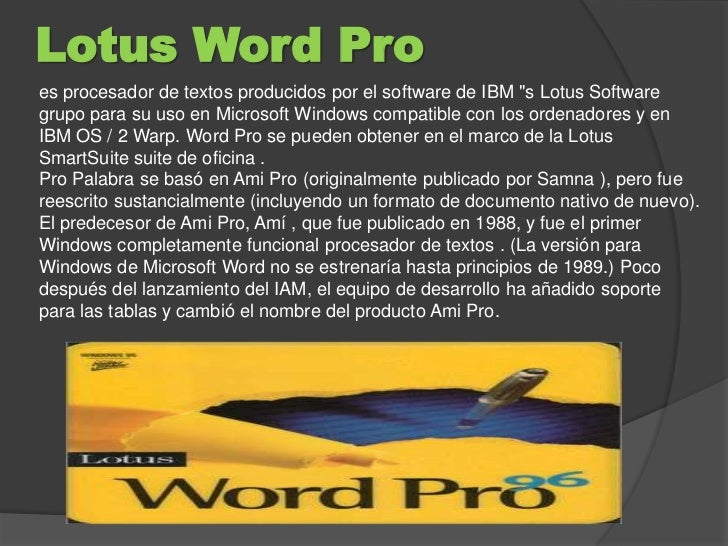 Lotus Word 28 Pictures About Procesadores De Texto