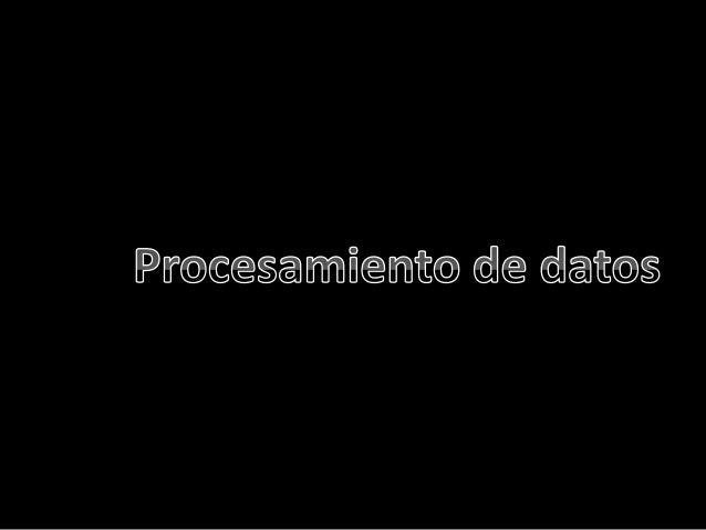 Procesamiento de datos expo