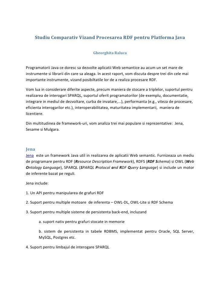 Procesarea RDF pentru platforma Java