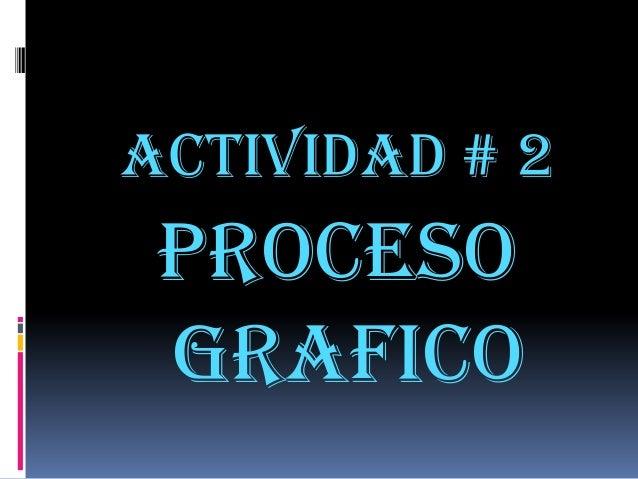 Actividad # 2 Proceso grafico