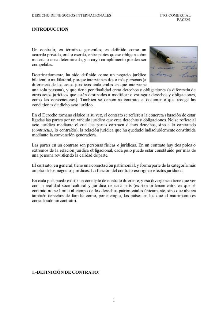 DERECHO DE NEGOCIOS INTERNACIONALES                                       ING. COMERCIAL                                  ...