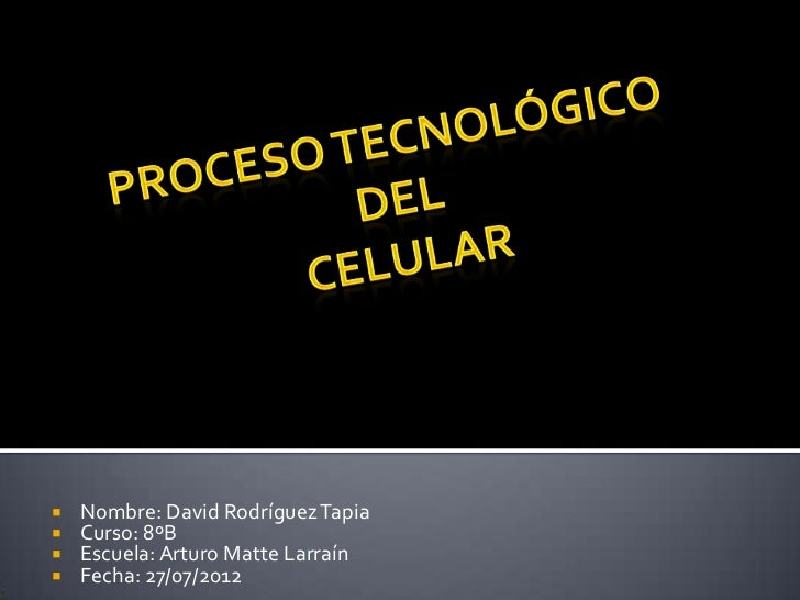    Nombre: David Rodríguez Tapia   Curso: 8ºB   Escuela: Arturo Matte Larraín   Fecha: 27/07/2012
