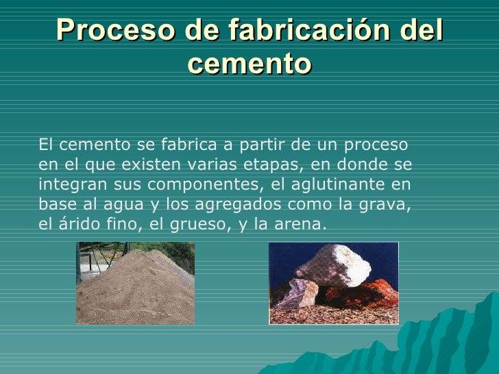 Proceso cemeto y salud ocupacional ceres turbaco for Como se fabrica el marmol