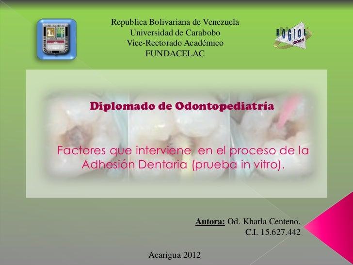 Republica Bolivariana de Venezuela             Universidad de Carabobo            Vice-Rectorado Académico                ...