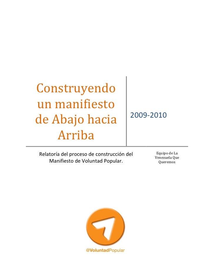 Proceso de construcción del manifiesto