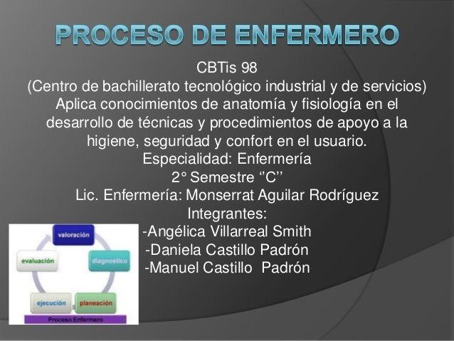 CBTis 98 (Centro de bachillerato tecnológico industrial y de servicios) Aplica conocimientos de anatomía y fisiología en e...