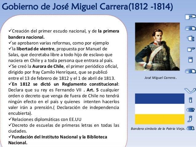 Resultado de imagen para reglamento constitucional de 1812 y la bandera de la Patria Vieja, además de publicarse la Aurora de Chile