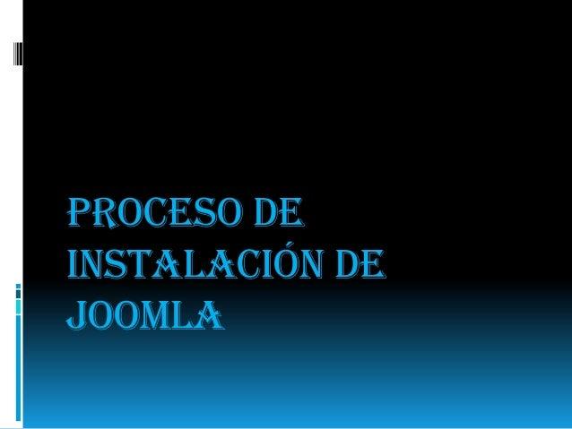 Proceso de instalación de joomla