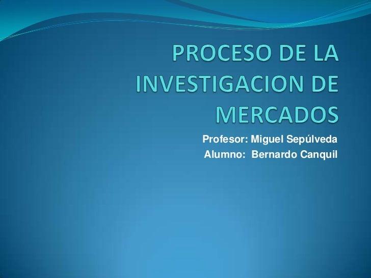 Proceso de la investigacion de mercados   copia