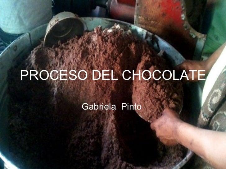 Proceso de elaboraci n del chocolate