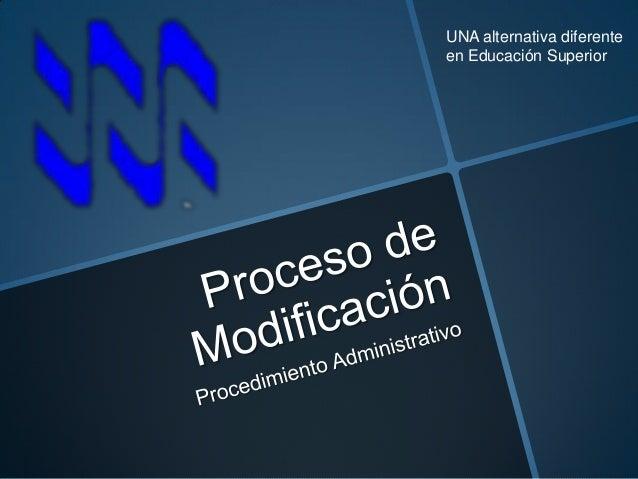 Proceso de modificación