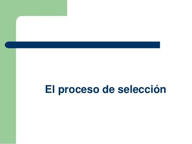 Proceso de selección y entrevistas de trabajo