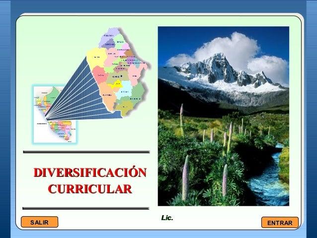 DIVERSIFICACIÓNDIVERSIFICACIÓN CURRICULARCURRICULAR Lic.Lic. SALIRSALIR ENTRARENTRAR