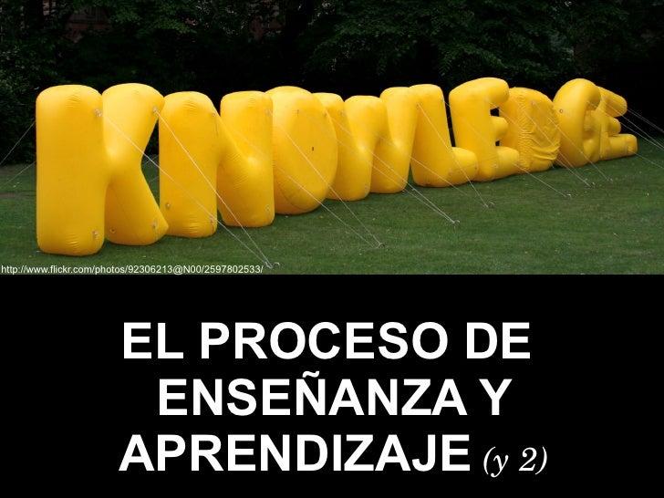Proceso de Enseñanza y Aprendizaje (2)