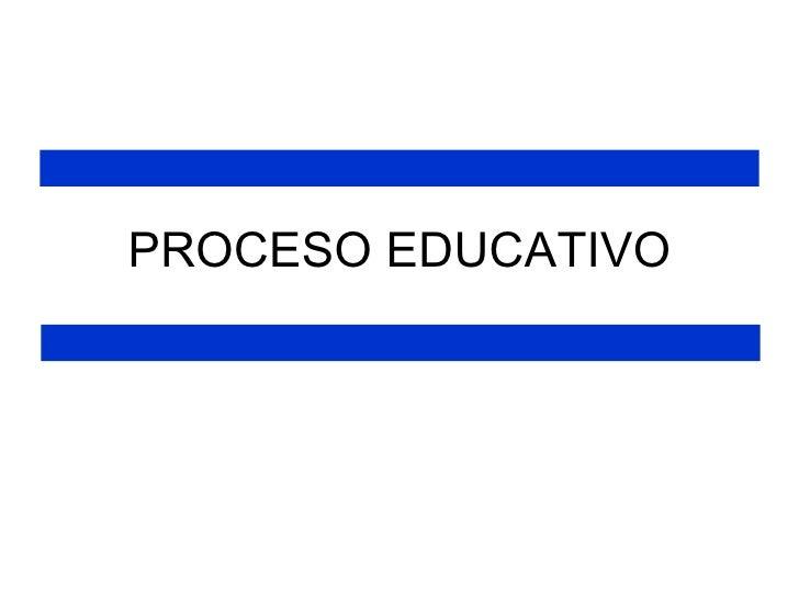 Proceso educativo EPDB