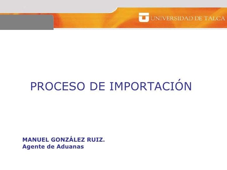 Proceso importacion