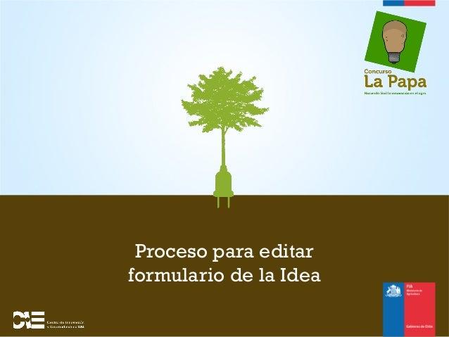 Proceso para editarformulario de la Idea