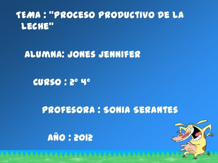 Circuito Productivo De La Leche : Proceso productivo de la leche jenny copia