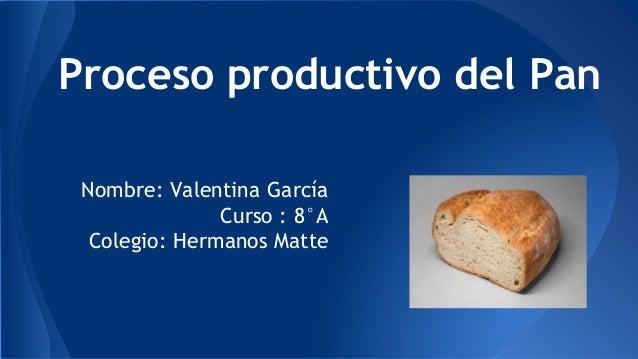Circuito Productivo Del Pan : Proceso productivo del pan garcía