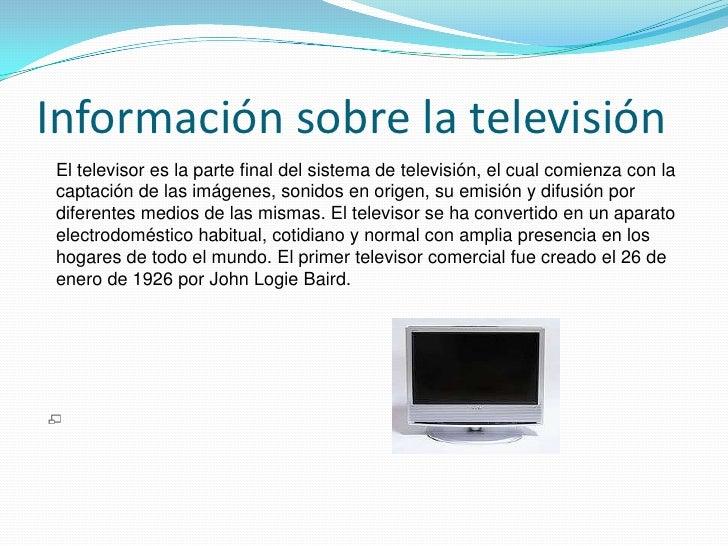 Proceso productivo del televisor for Todo sobre el marmol
