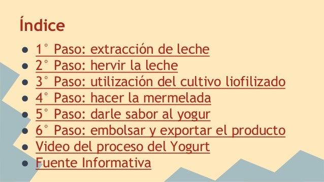 proceso productivo del yogurt