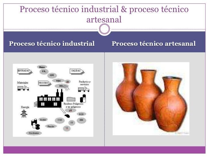 Proceso Productivo Proceso T Cnico Artesanal