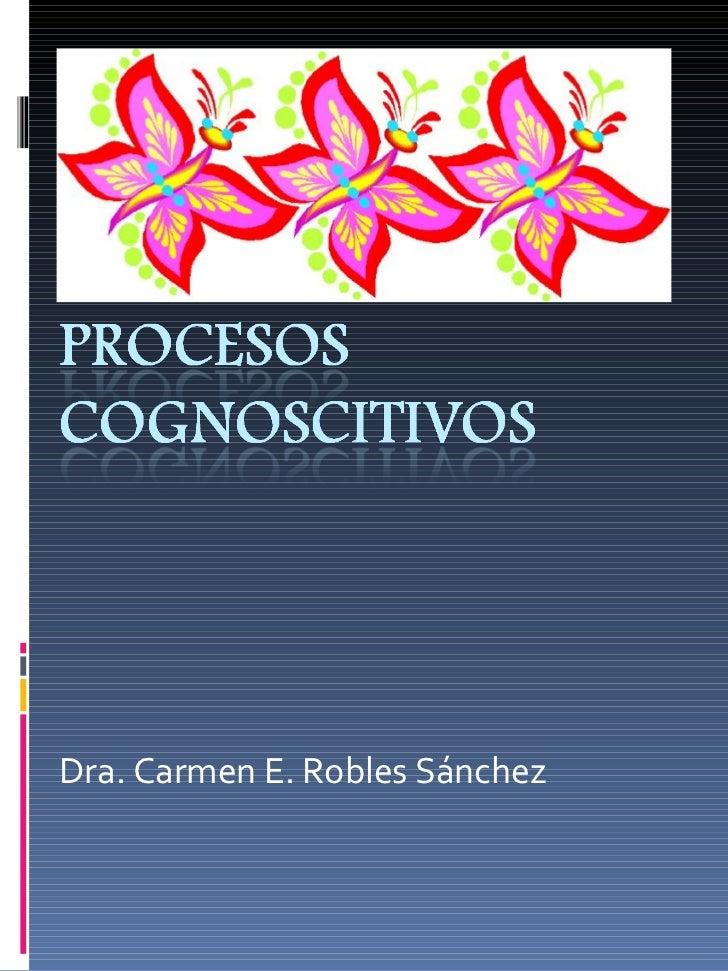 Dra. Carmen E. Robles Sánchez