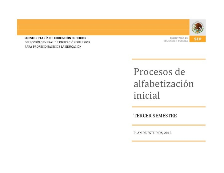 Procesos de alfabetizacion inicial Programa LEP