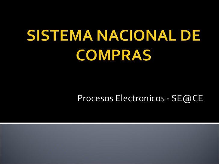 Procesos Electronicos - SE@CE