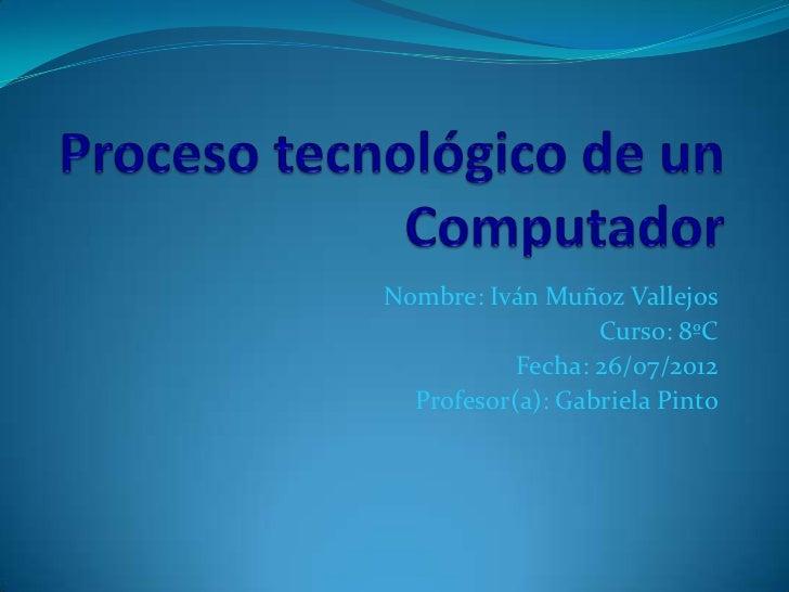 Nombre: Iván Muñoz Vallejos                  Curso: 8ºC           Fecha: 26/07/2012  Profesor(a): Gabriela Pinto