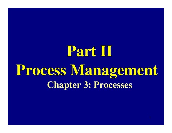 Part IIProcess Management   Chapter 3: Processes                          1
