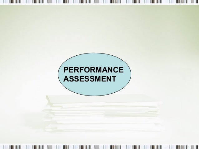 Process oriented performance-based assessment