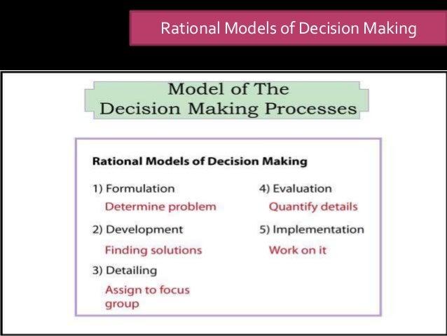 rational comprehensive model of decision making