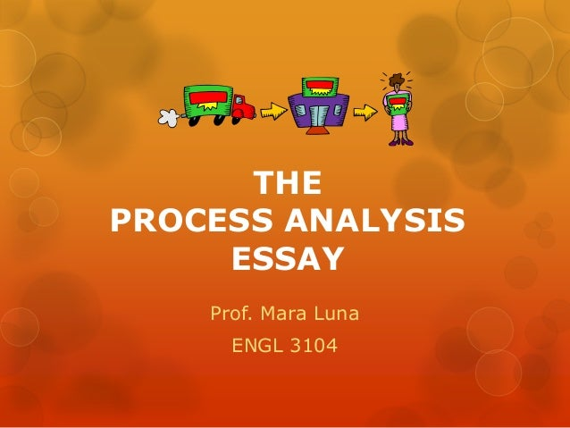 "Process Analysis (""How To"") Processing the Process Essay"