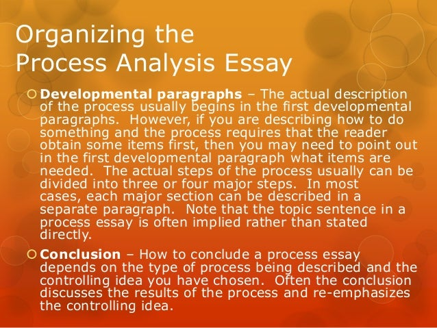 Process analysis essay informative