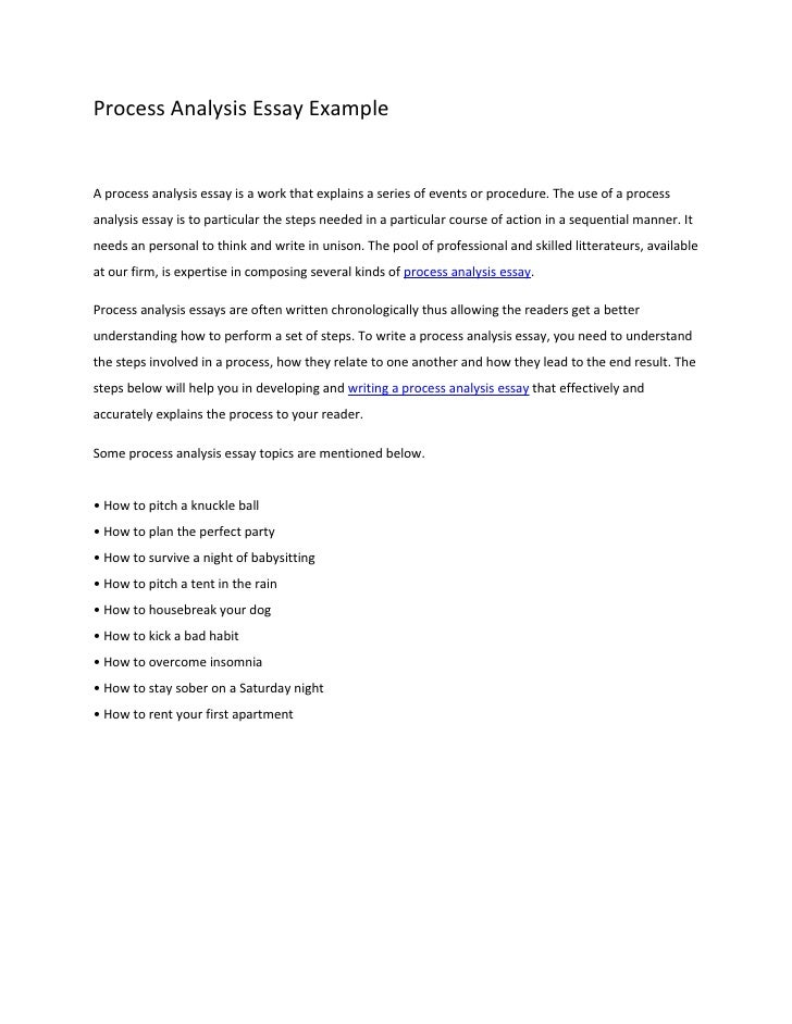 Process essay topics for college students