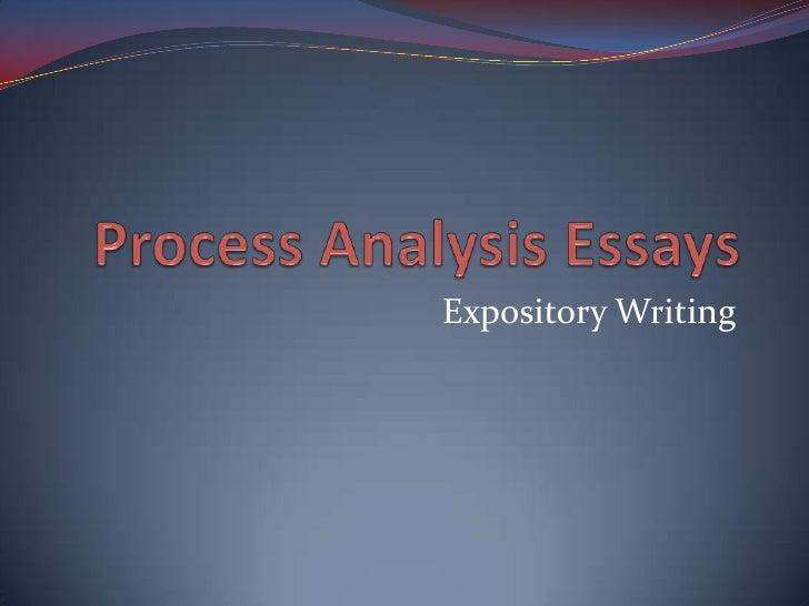 Process analysis essays