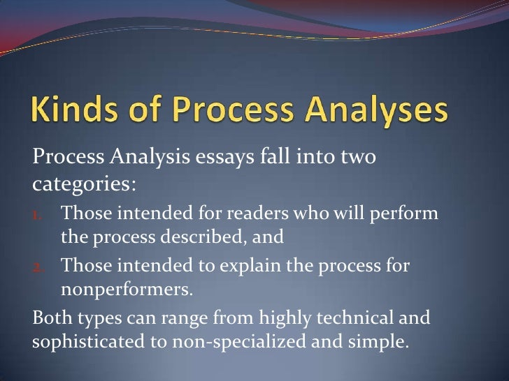 process analysis essay for writing papers