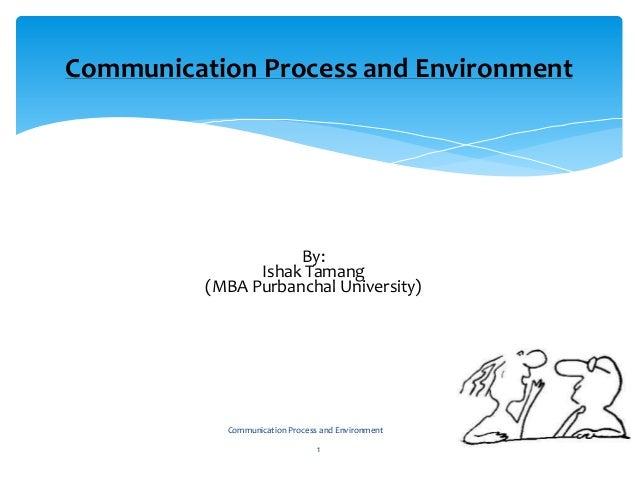 By: Ishak Tamang (MBA Purbanchal University) Communication Process and Environment 1 Communication Process and Environment