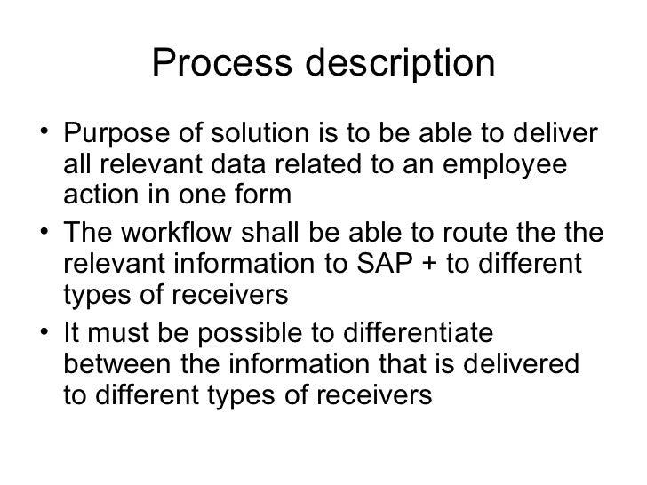 Process description