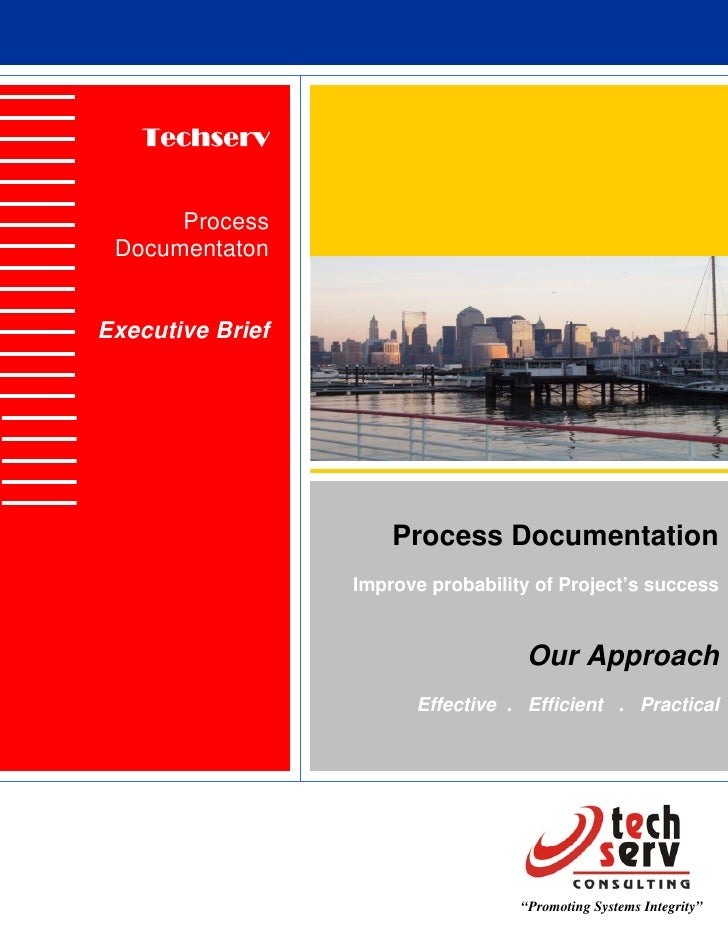 Techserv         Process  Documentaton   Executive Brief                           Process Documentation                  ...