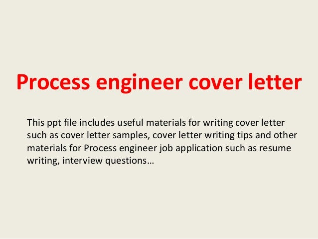 manufacturing process engineer cover letter