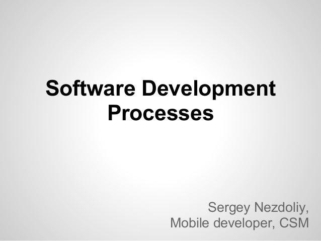 Processes in software development