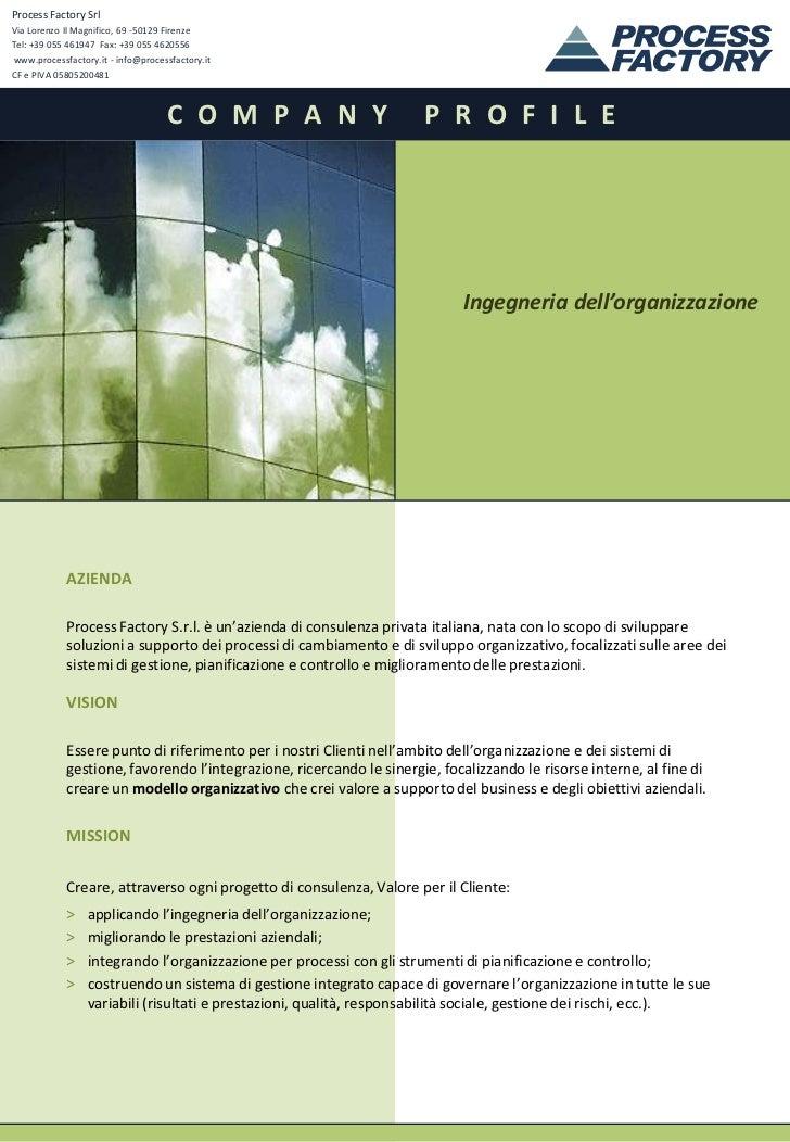 Process Factory Company Profile