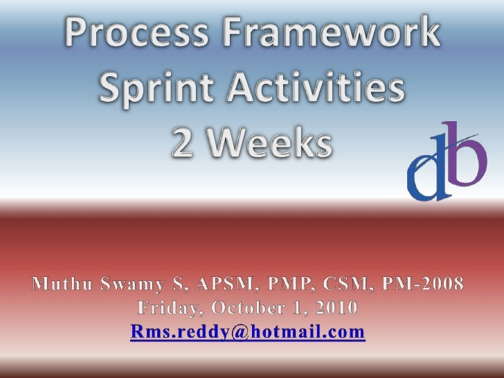 Agile Process Framework   Sprint Activities