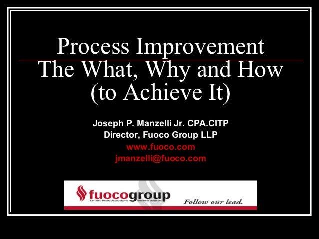 Process improvement   fuoco group