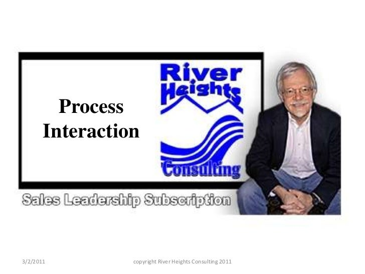 Process Interaction<br />3/2/2011<br />copyright River Heights Consulting 2011<br />