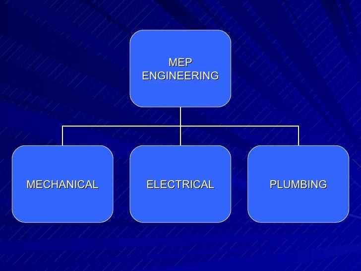 MEP ENGINEERING MECHANICAL ELECTRICAL PLUMBING
