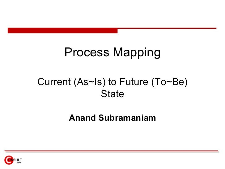 Process Mapping Current (As~Is) to Future (To~Be) State Anand Subramaniam