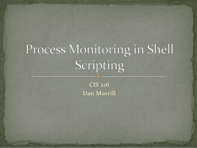 Process monitoring in UNIX shell scripting
